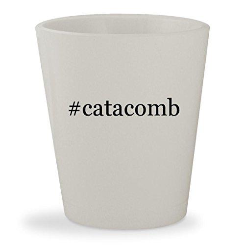 #catacomb - White Hashtag Ceramic 1.5oz Shot Glass
