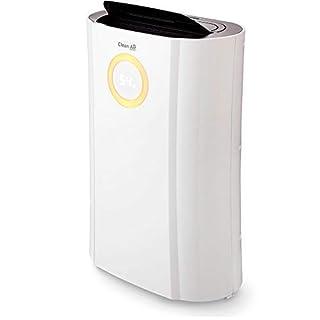 Clean Air Optima CA-704 - Deshumidificador/secador de ropa y purificador de aire con ionizador 2 en 1 – Hasta 10L por día – para habitaciones de hasta 40 m² – Incluye filtro de carbón activo, ionizador y lámpara
