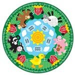 - Melissa & Doug Farm Friends Fresh Start Circular Floor Puzzle