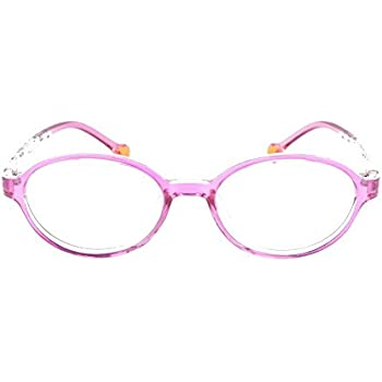 9f0901ef1a EyeBuyExpress Prescription Boys Girls Pink Clear Rounded Rectangular Reading  Glasses Children Anti Glare Quality +0.50