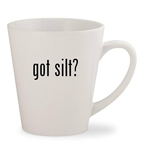 got silt? - White 12oz Ceramic Latte Mug Cup