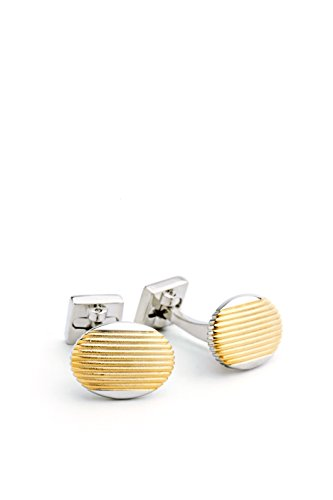 ike-behar-mens-rhodium-and-gold-plated-cufflink-silver-gold-one-size