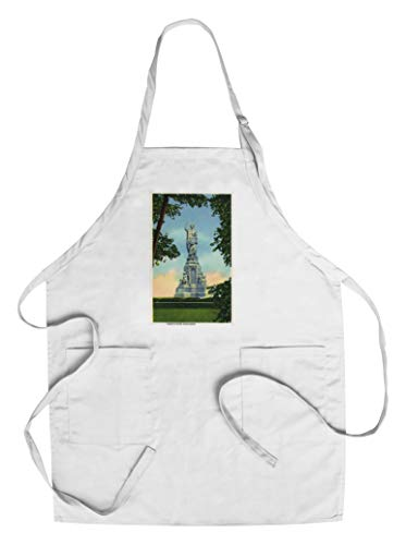 - Plymouth, Massachusetts - View of the Forefathers Monument # 2 (Cotton/Polyester Chef's Apron)