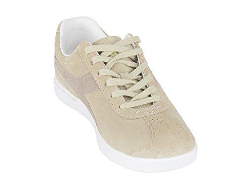 Donna Bellesimo Door Diadora Dames Suede Laceup Mode Sneakers Kiezelsteen
