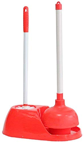 (CIPARK Toilet Brush Plunger Set Bathroom Accessories Storage Holder Caddy,Best Bowl Cleaner Unclog Clogged Bowl Rapidly,Industrial Heavy Duty Universal Combo Plastic Stand,Rubber Made Powerful Grips)