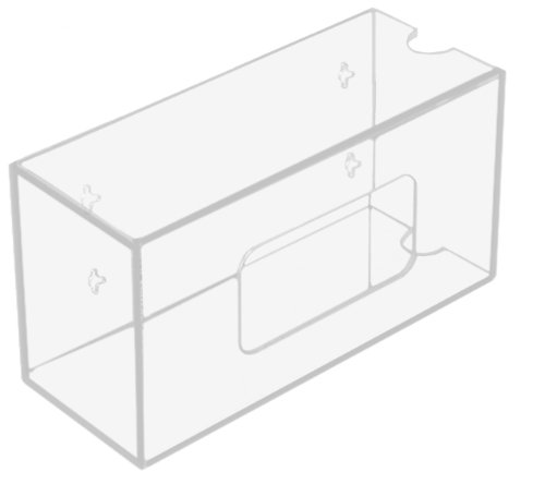 - TrippNT 50831 Clear Acrylic Single Side Loading Glove Box Holder, 10