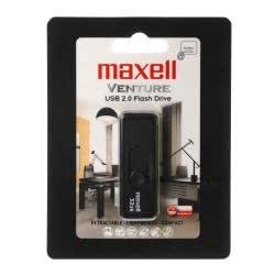 Maxell Venture - Memoria USB (32 GB, USB 2.0, 11 MB/s, 22 mm, 7 mm, 74 mm) Negro