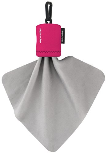Alpine Innovations Spudz Classic Microfiber Cloth and Screen Cleaner, Pink, Large (Pink Bag Microfiber)