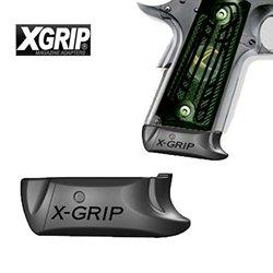 X-Grip Magazine Spacer, Fits 1911 Officer, Black, 2 Piece 1911C2