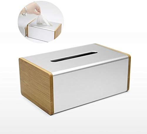 Caja De Pañuelos Decorativa De Aleación De Aluminio - Cajas Rectangulares - Dispensador De Portapapeles Rectangular Simple: Amazon.es: Hogar