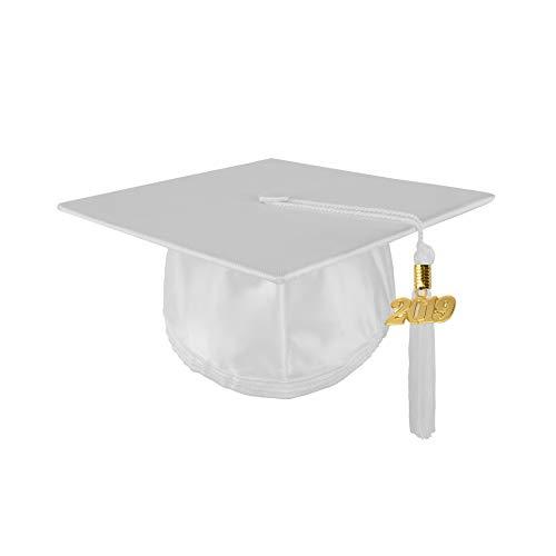 Youth Unisex Shiny Graduation Cap with 2019 Tassel, ()