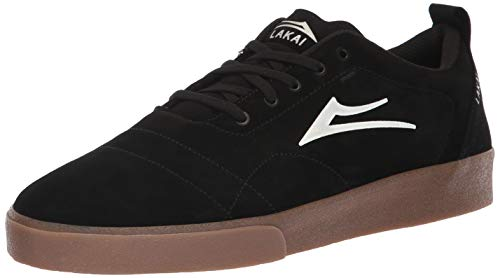 Lakai Men's Bristol, Black/Gum Suede, 12 M US by Lakai