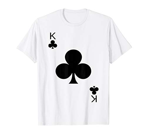 King of Clubs Deck of Cards Halloween Costume T-Shirt