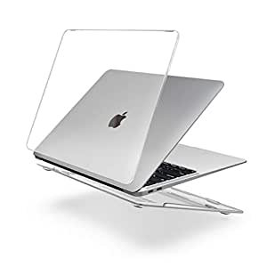 "SLEO Hard Case for 2018 Newest MacBook Air A1932 13 inch Case,Ultra Slim Plastic Protective Snap On Shell Cover for New MacBook Air A1932 13.3"" with Touch ID - Crystal Clear"