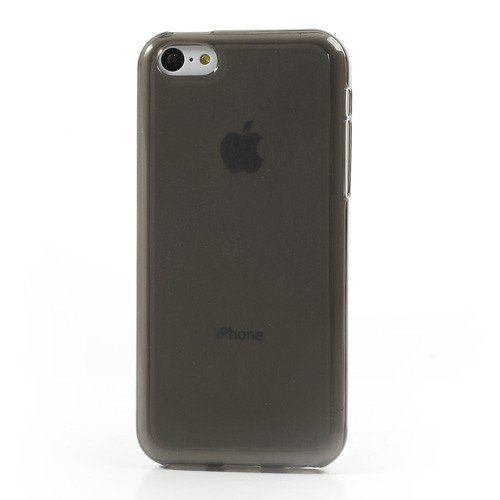 JUJEO Double side Matte Pudding TPU Case for iPhone 5C - Non-Retail Packaging - Grey