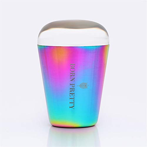 (BORN PRETTY Clear Nail Stamper Auroras Nail Shining holographic Head colorful Handle Clear Silicone Stamper for Nail Art Stamping Plate )