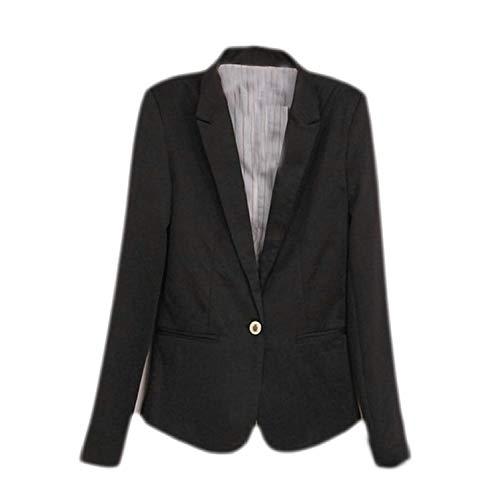Da Tailleur Lunga Manica Schwarz Suit Autunno Giubotto Giacca Anteriori Tasche Button lannister Outwear Leisure Donna Baggy Confortevole Bavero Monocromo Ragazza Qk Sx0On8qgpw