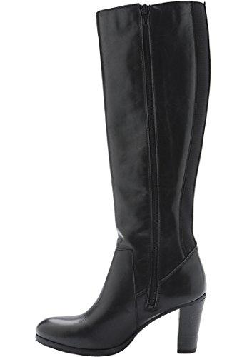 Bianco Damen Long Boot w/Elastic Panel RERU Schwarz