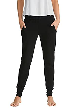 Bonds Women's Clothing Cotton Blend Basic Cuff Trackie,Black,XXS