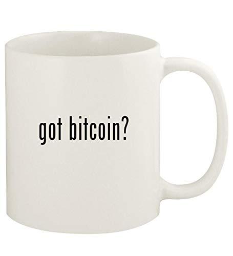 got bitcoin? - 11oz Ceramic White Coffee Mug Cup, White