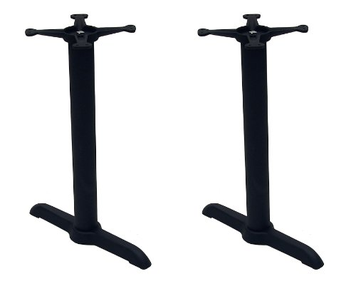ATC B-Series Black Indoor Cast Iron Table Base with Two Columns and 2 13