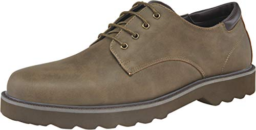JOUSEN Men's Casual Dress Shoes Business Work Oxford (8,Brown)
