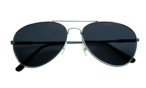 Adults Black Aviator Captain Pilot Officer Sunglasses Fancy Dress Accessory by BOLAND - Bv Sunglasses