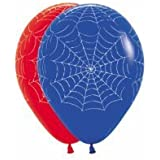 Masti Zone Pack Of 25 Multi Colour Spider Web Theme Party Latex Balloons