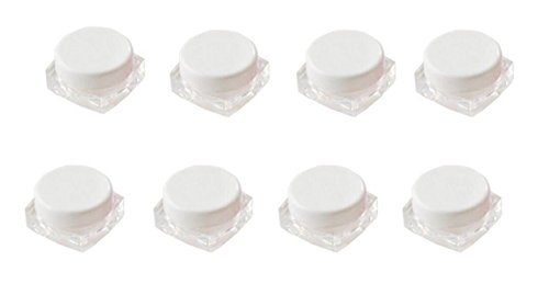 12PCS 3G / 3ML Transparent Empty Square Acrylic Cosmetic Bot