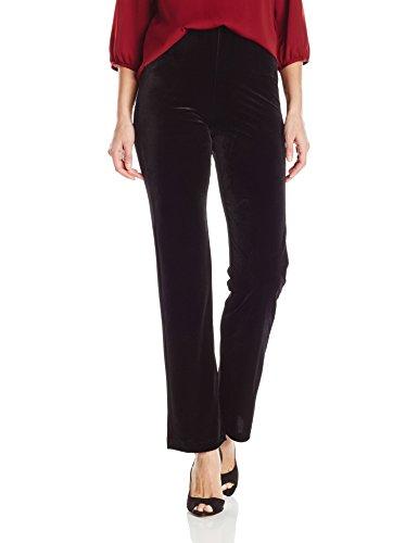 Lyssé Women's Velvet Wide Leg Pant, Black, M ()