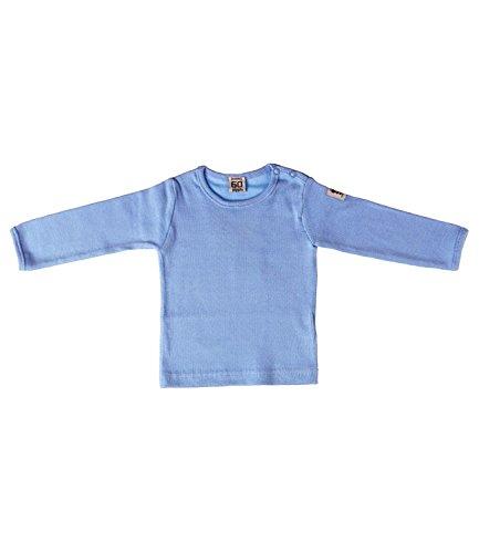 Pippi T-shirt Ls W.buttons O.shoulder - Blusa Bebé-Niños azul claro