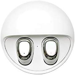 Cetengkeji AYDワイヤレスヘッドセット(ディープベースステレオサウンド、Bluetooth 5.0イヤフォン、イヤホン内蔵マイク、スリップ防止デザイン、ハンズフリー通話) (Color : White)