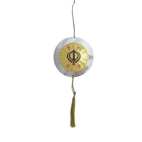 Universal World Guru Nanak Devji Picture And Khanda For Car Rear Mirror