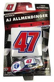 NASCAR Authentics AJ Allmendinger #47 Diecast Car 1/64 Scale - 2018 Wave 10 - with Die Cut Sticker - Collectible