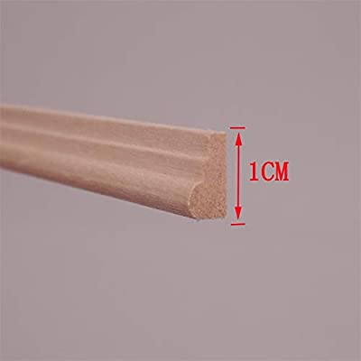 DIY 1/12 Scale Dollhouse Miniatures Window Door Wood Finishing Trim A2 Lot 10 ; Wide 1cm, L 30cm: Toys & Games