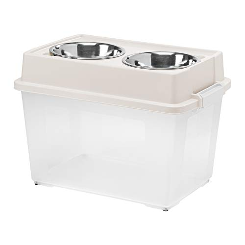 Elevated Pet Feeder with Pet Food Storage by Inspired Essentials