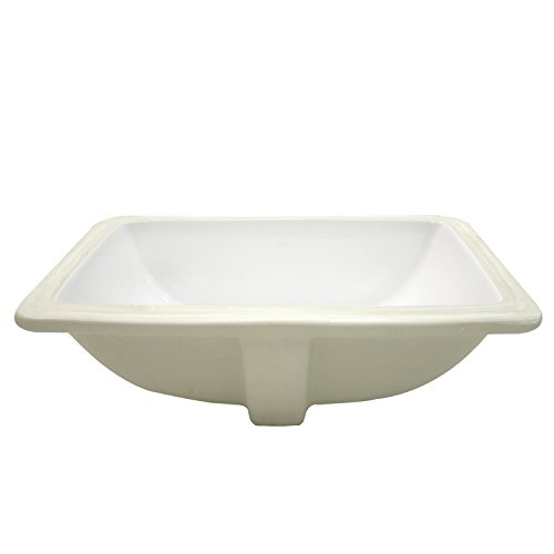 Best Deals! Decolav 1402-CWH Rectangular Vitreous China Undermount Lavatory with Overflow, White