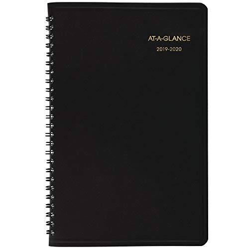 "AT-A-GLANCE 2019-2020 Academic Year Weekly Planner/Appointment Book, Small, 5"" x 8"", Black (7010105)"