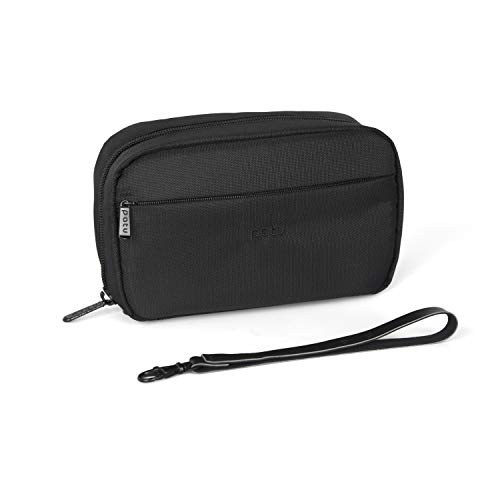 Patu Handy Beauty Stuff Carry Case, Makeup Cosmetic Bag, Women Facial Cleanser Skincare Kit Pouch, Pencil Clutch, Portable Electronics Accessories Organizer, Black from patu