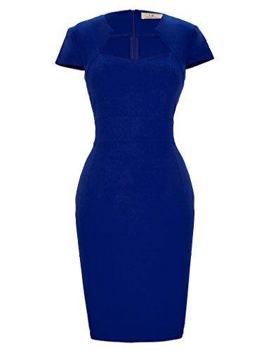 Paul Jones Dress Women's Blue Vintage Cocktail Dress Pinup Wiggle Dress (8947-2  M) by GRACE KARIN]()