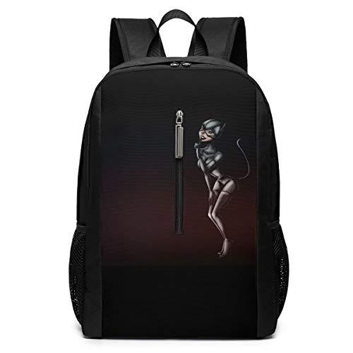 Catwoman Comics 17 Inch School Bag Backpack College Bag Laptop Backpack Large Capacity Backpack (Black)