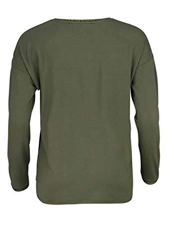 e94741c32b Marc Aurel Langarm Shirt V-Ausschnitt Glitzer Print Oliv/hellgrün:  Amazon.de: Bekleidung