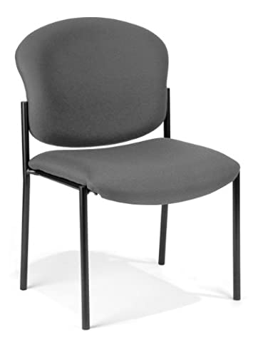OFM Armless Stack Chair, Gray - Ofm Armless Stacking Chair
