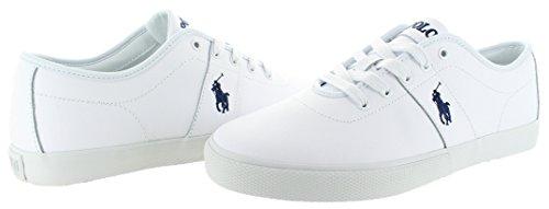 Ralph Lauren Polo Sneakers En Cuir Pour Homme Blanc / Blanc
