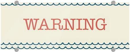 8x3 Nautical Waves Premium Brushed Aluminum Sign 5-Pack CGSignLab Warning