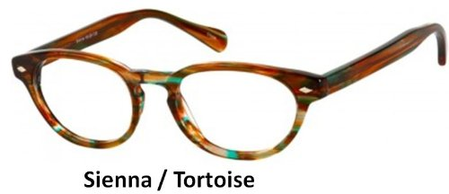 Multi-View Computer Reader Model 72 - Sienna Front w/ Tortoise Temples - Strength +1.5