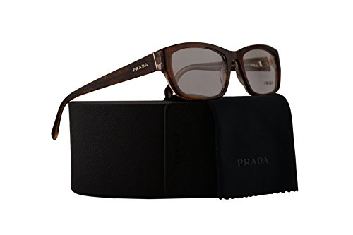 Prada PR18OV Eyeglasses 52-18-135 Lace Havana w/Demo Clear Lens BF41O1 VPR18O VPR 18O PR - Glasses Channel Reading