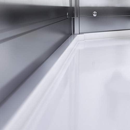 Cabina de ducha 100 x 100 cm, color plateado y negro: Amazon.es: Bricolaje y herramientas