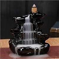 eCraftIndia Lord Blue Ganesha Smoke Backflow Cone Incense Holder Decorative Showpiece with 10 Free Smoke Backflow Scented Cone Incenses