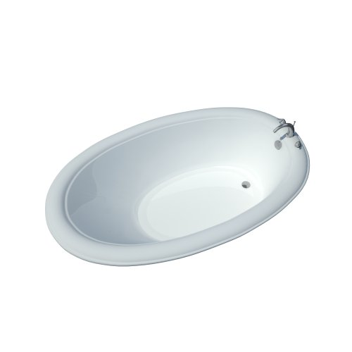Atlantis Whirlpools 3660p Petite Oval Soaking Bathtub, 36 X 60, Left Or Right Drain, White